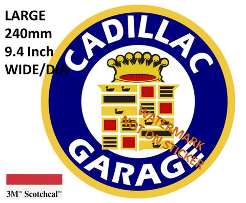 Cadillac Garage Sticker