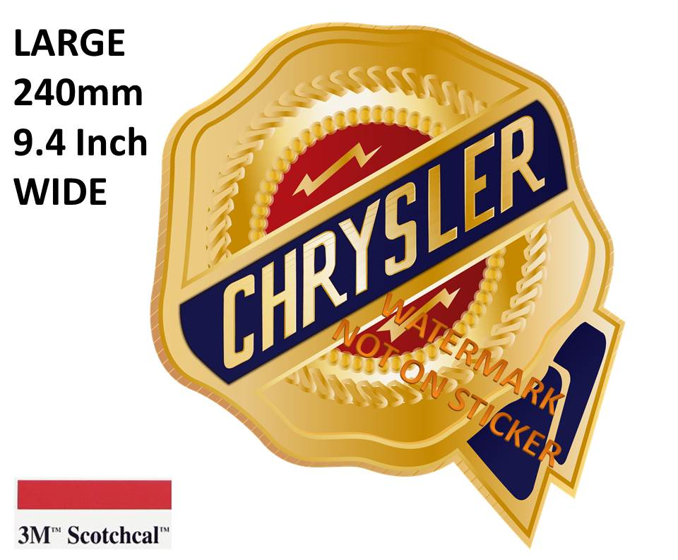 Chrysler Ribbon Sticker