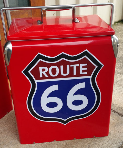 Retro Ice Cooler Route 66