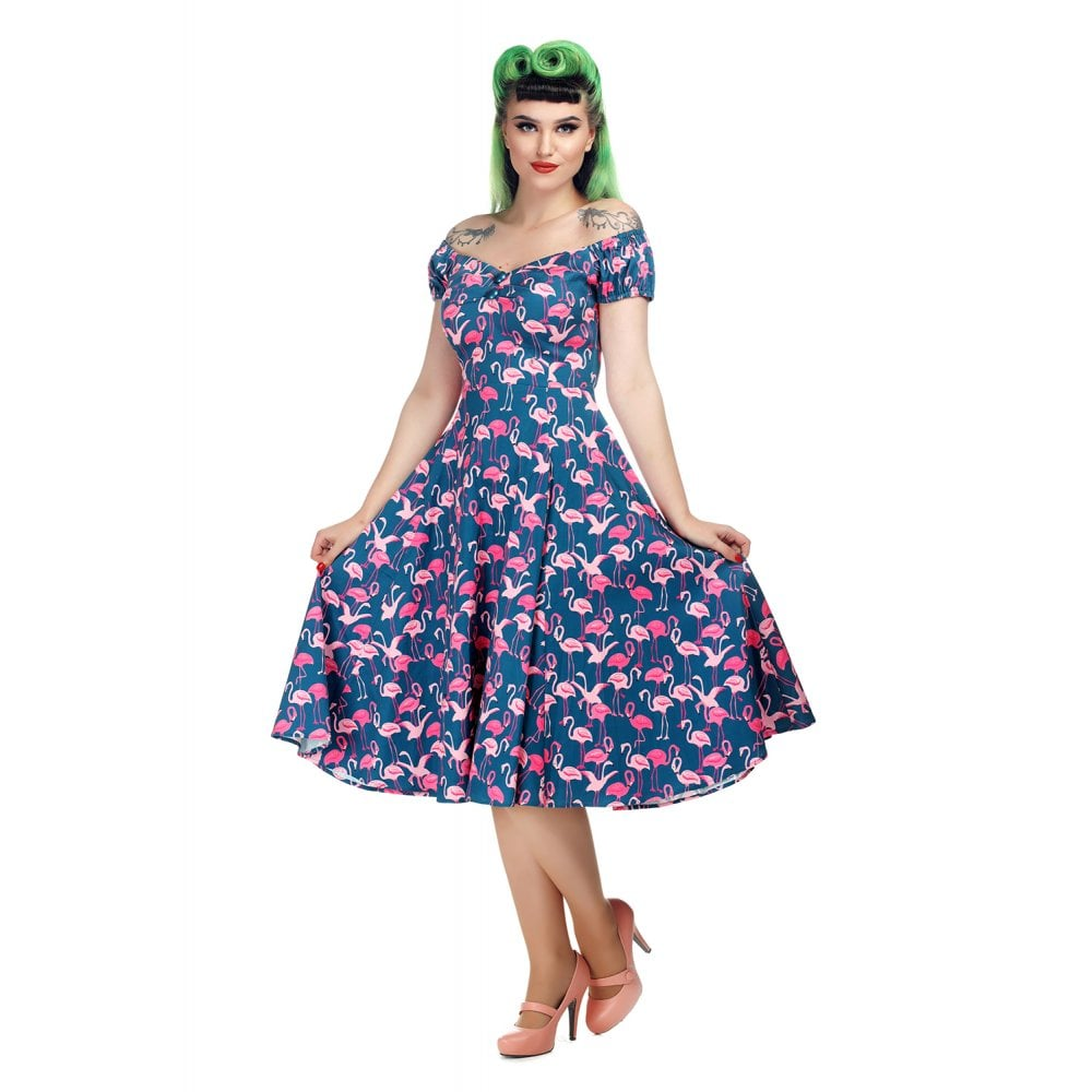 Dolores Flamingo Dress