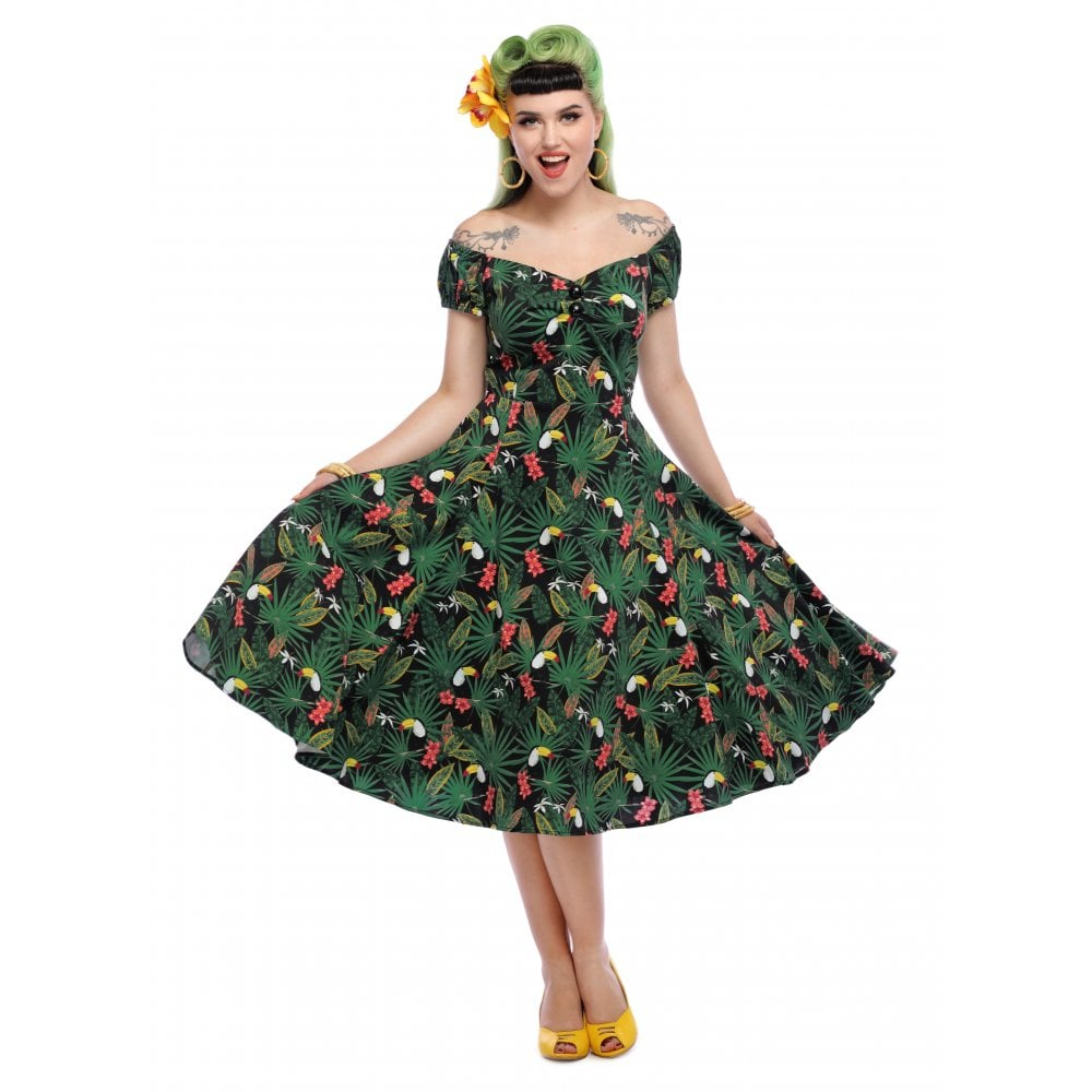 Dolores Tropicalia Toucan Dress