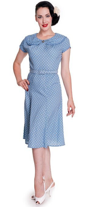 Hell Bunny Ingrid Dress Blue
