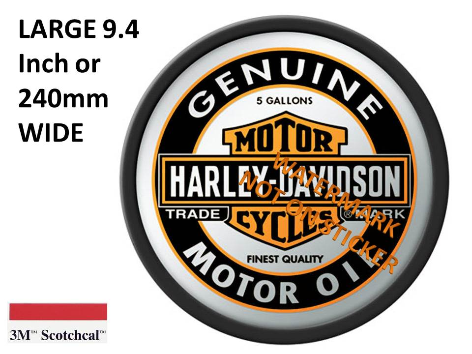 Harley Motor Oil  Sticker