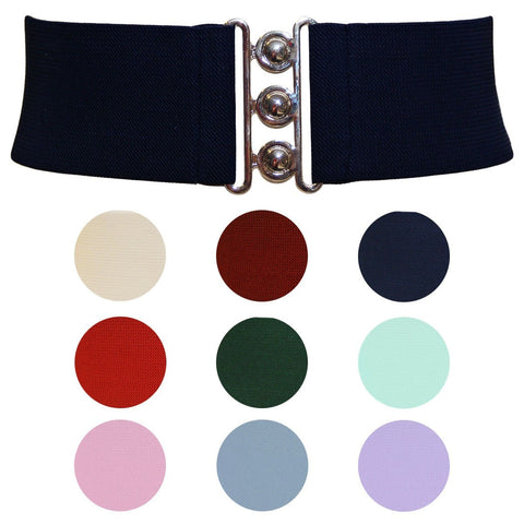 Hell Bunny Retro Cinch Belt  9 Colours to choose from