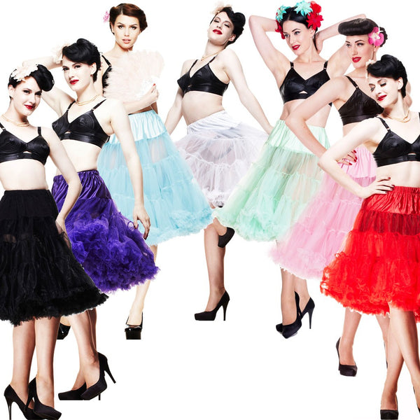 Hell Bunny Petticoat Long Lots of Colours