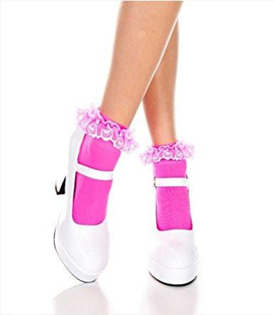 Anklet Socks  Lace ruffle 4 colours