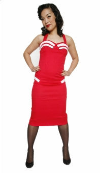 Collectif Norma Sailor Dress Red