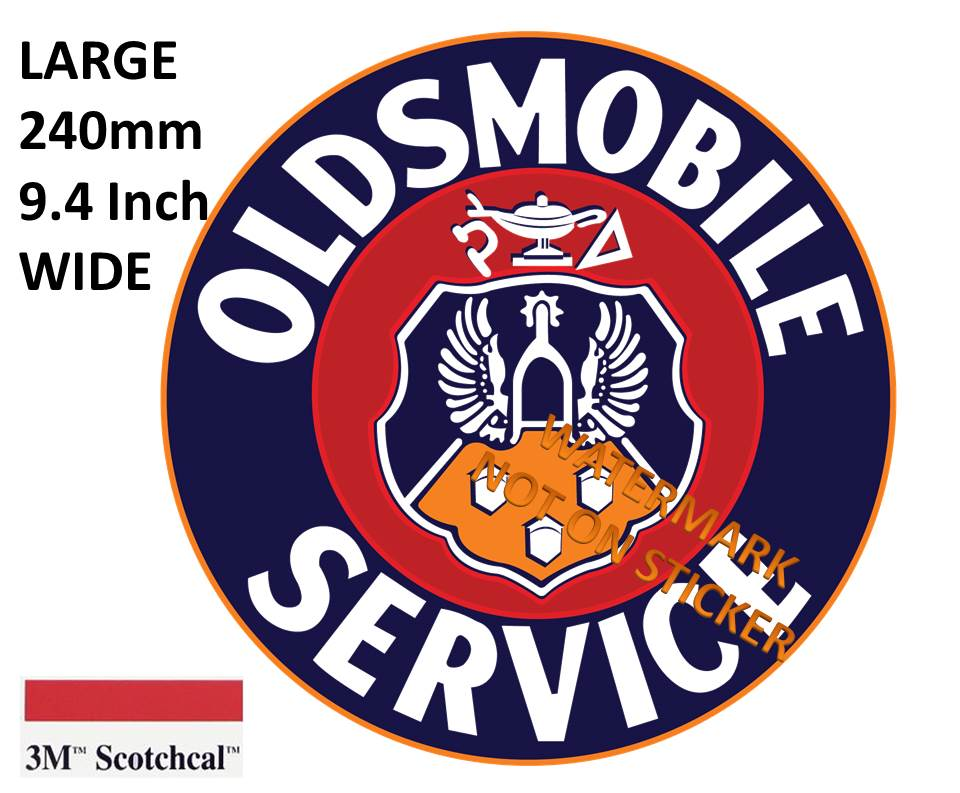 Oldsmobile Service Sticker