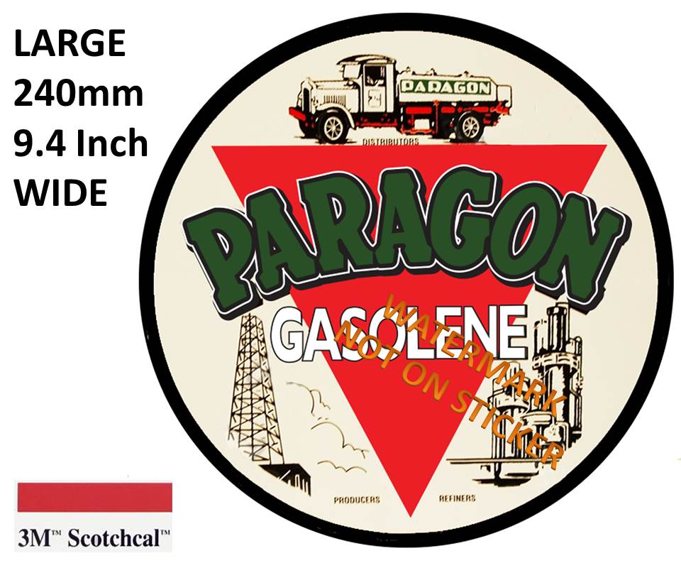 Paragon Gasolene Sticker