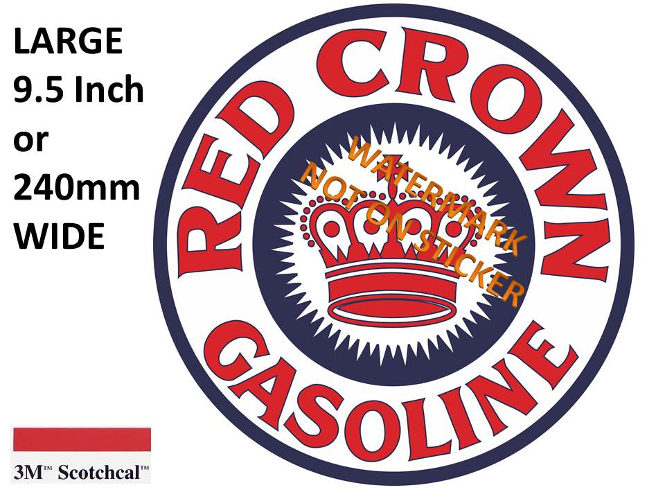 Red Crown gasoline Sticker