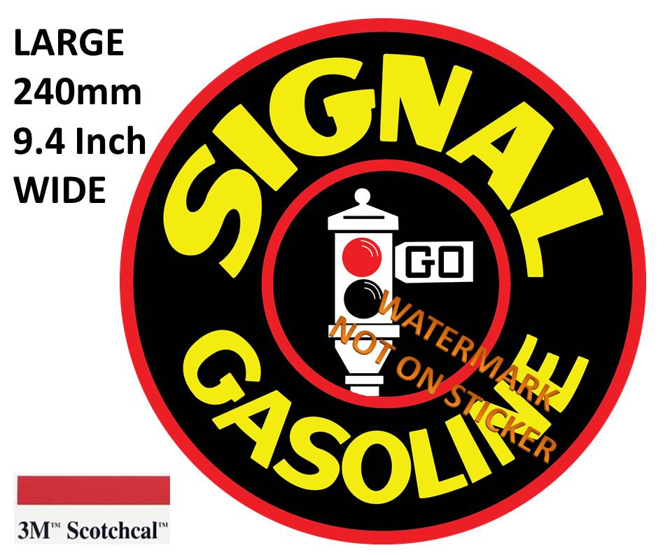 Signal Gasoline Sticker