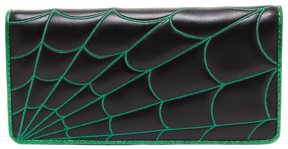 Spider Web Wallet Green