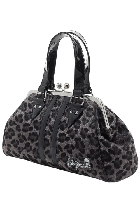 TEMPTRESS GREY LEOPARD Handbag