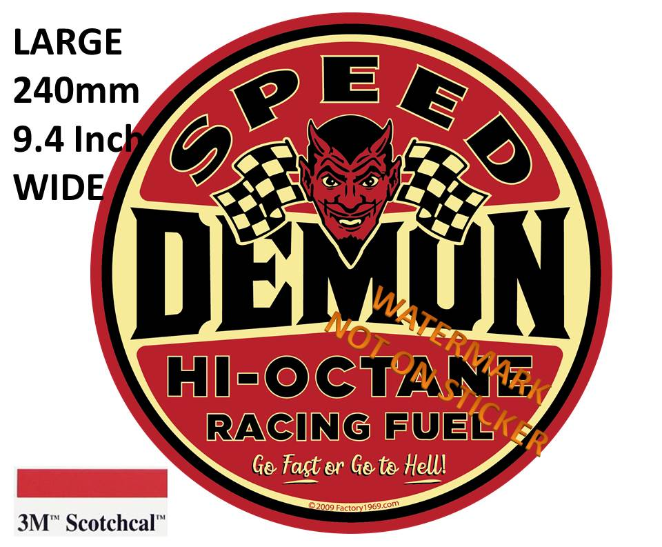 Speed Demon Sticker