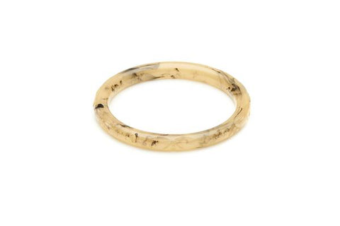 Narrow Chocolate Creme Fakelite Bangle Regular