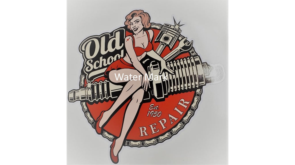 Old School Repair Sticker