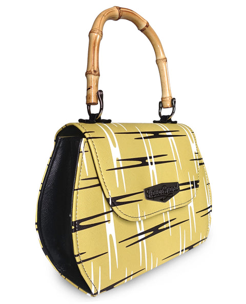 Liquorbrand Retro Bamboo Handle Bag -Atomic Yellow