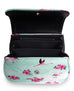 Liquorbrand Retro Bamboo Handle Bag - Flamingos - Teal