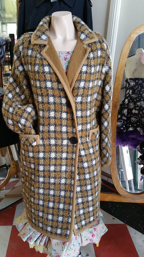 Vintage Woolen Coat Reversible