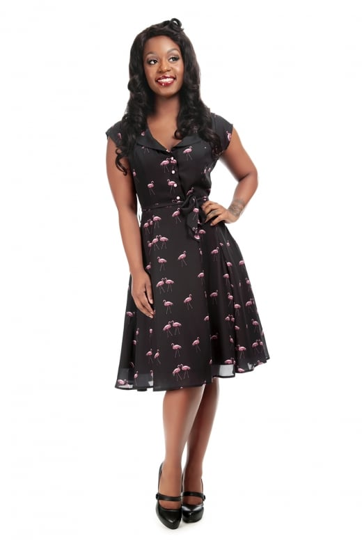Flamingo Dress By Collectif