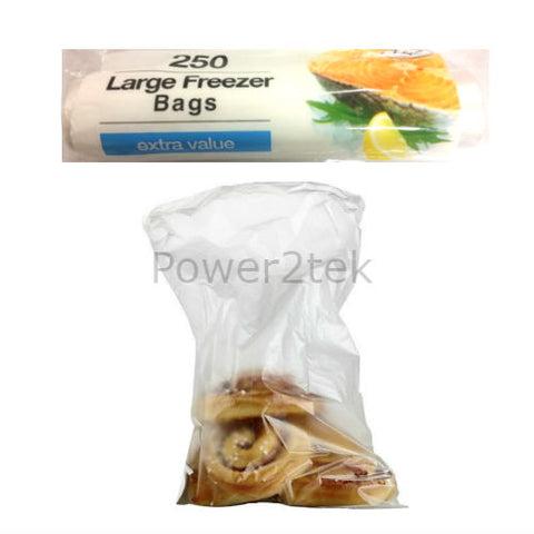 250 x Large Food & Fridge Freezer Storage Bags Pack Lunch Sandwich 28 x 22cm UK