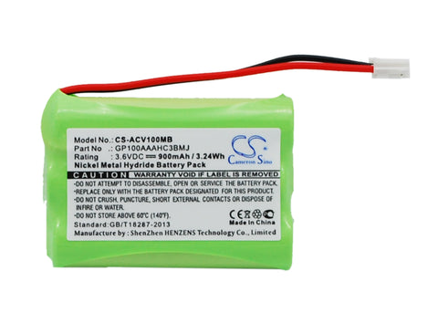 Battery for Audioline Baby Care V100, G10221GC001474 GP100AAAHC3BMJ 3.6V Ni-MH 9