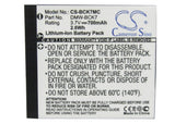 Battery for Panasonic Lumix DMC-FP77, Lumix DMC-FS14, Lumix DMC-FS22, Lumix DMC-