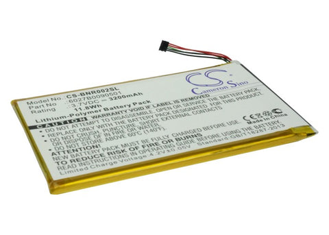 Battery for Barnes & Noble BNRB200, BNRV200, BNTV250A, DR-NK02, Nook 7-inch, NOO