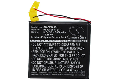Battery for Fiio E18 PL805053 1S1P 3.7V Li-Polymer 3000mAh / 11.10Wh