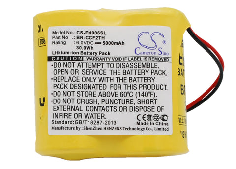 Battery for Panasonic BR-CCF2TH 6V Li-MnO2 5000mAh / 30.00Wh