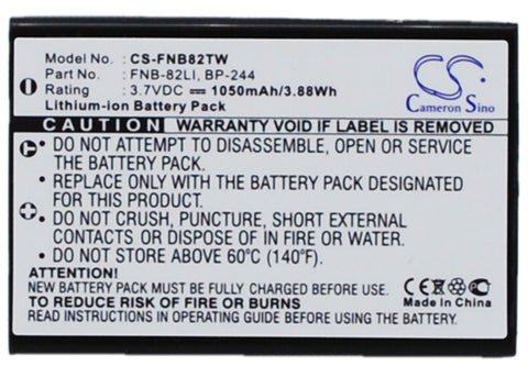 Battery for YAESU VR-160, VX-1, VX-2, VX-2E, VX-2R, VX-3 FNB-82LI 3.7V Li-ion 10