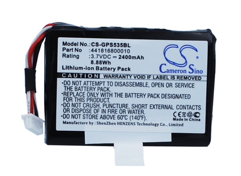 Battery for Getac PS535E 441816800010 3.7V Li-ion 2400mAh / 8.88Wh