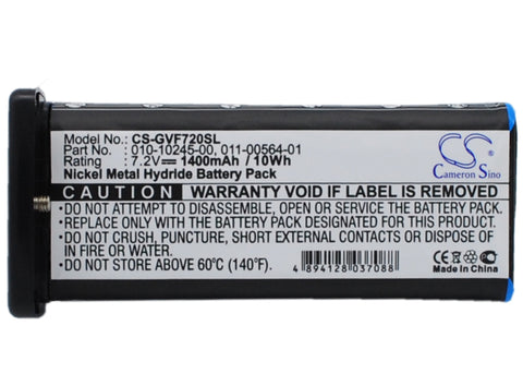 Battery for Garmin VHF 720, VHF 725, VHF 725e 010-10245-00, 011-00564-01 7.2V Ni