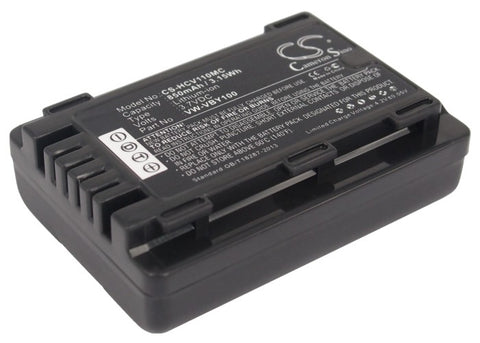 Battery for Panasonic HC-V110, HC-V110G, HC-V110GK, HC-V110K, HC-V110P, HC-V110P