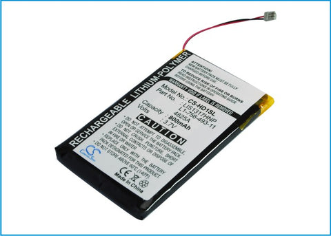 Battery for Sony NW-HD1 MP3 Player PMPSYHD1 3.7V Li-Polymer 800mAh
