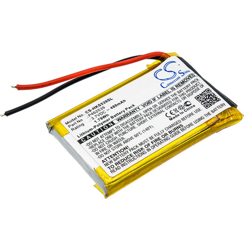 Battery for Harman/Kardon SOHO P462539 3.7V Li-Polymer 480mAh / 1.78Wh
