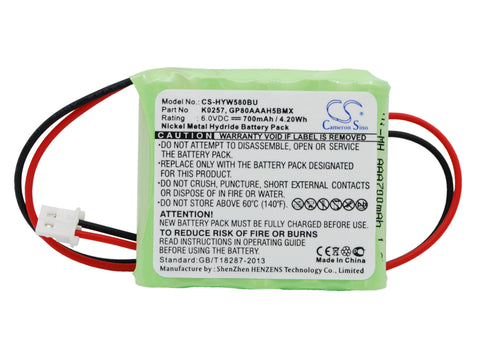Battery for Honeywell 55111-05, 5800RP Wireless, 5800RP Wireless Repeater, K0257