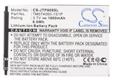 Battery for JCB Pro-Smart, Toughphone Pro-Smart, Toughphone TP909, TP909 TM07406