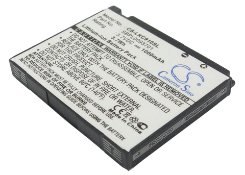 Battery for LG KC910 SBPL0093701 3.7V Li-ion 1000mAh
