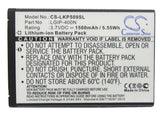 Battery for LG LS670, LW690, MS690, Optimus M, Optimus P500, Optimus S, Optimus