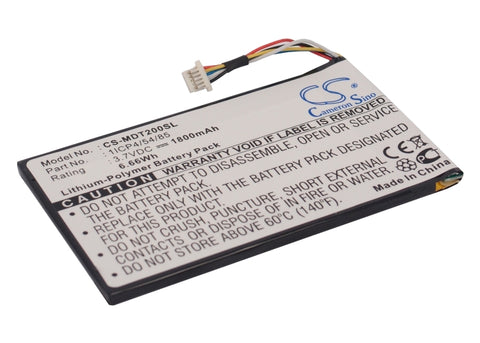Battery for IEIMobile MODAT-200 1ICP4/54/85 3.7V Li-Polymer 1800mAh/6.66Wh