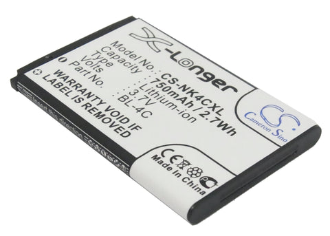Battery for Manta MS1701, TEL2405, TEL2408 JB-4C 3.7V Li-ion 750mAh / 2.78Wh