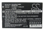 Battery for Denso BHT500 BT-50L 3.7V Li-ion 1100mAh / 4.07Wh