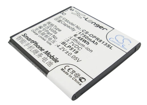 Battery for OPPO 701T, R813T, R817, R817T, R823, U701, U701T, Ulike BLP519 3.7V