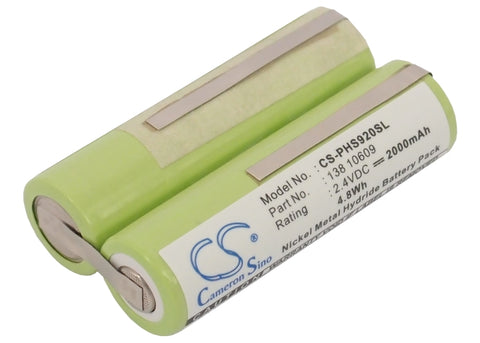 Battery for Tondeo ECO X Profi, ECO-X 2.4V Ni-MH 2000mAh / 4.80Wh