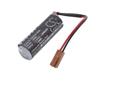 Battery for Toshiba ER14500, ER6V ER14500, ER6V 3.6V Li-MnO2 2000mAh / 7.20Wh
