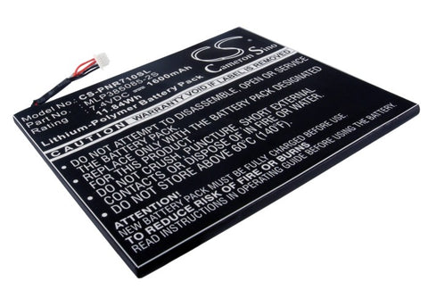 Battery for Velocity Micro Cruz MLP385085-2S 7.4V Li-Polymer 1600mAh / 11.84Wh