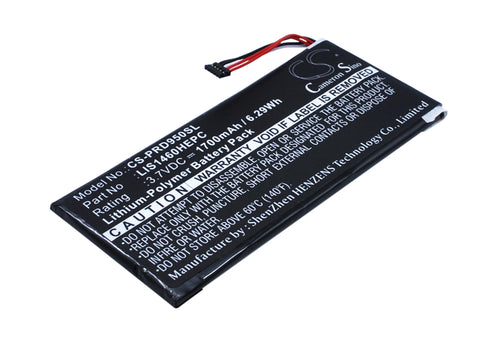 Battery for Sony PRS-950, PRS-950SC 1-853-020-11, LIS1460HEPC, LIS1460HEPC(SY6)