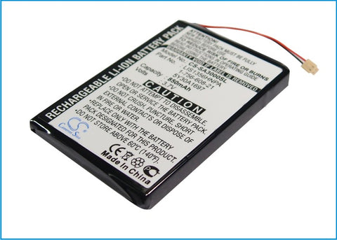 Battery for Sony NW-A3000 series, NW-A3000V 1-756-608-21, 5Y30A1697, LIS1356HNPA