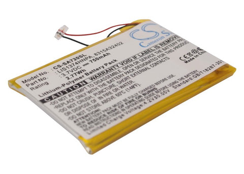 Battery for Sony NWZ-820, NWZ-A720, NWZ-A726, NWZ-A728, NWZ-A729BLK, NWZ-A826, N
